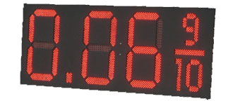 Large Multi-Alarm LED Clock